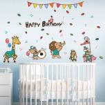 Интерьерная многоразовая наклейка «Happy birthday»