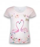 Футболка женская Любовь фламинго