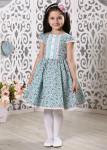 """Платье для девочки """"Бирюза"""" (рост 128 см)"""