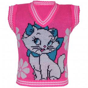 Безрукавка Кошка розовый