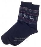Н434/5 Мужские носки (т.синий/ красный)