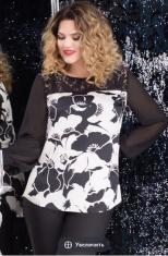 Блузки Модель 11954 черно-белый LeNata      Производитель: L