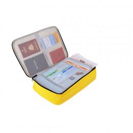 Органайзер для хранения документов, Д370 Ш270 В100, желтый