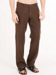 Мужские льняные брюки / ЦВЕТ:  шоколад