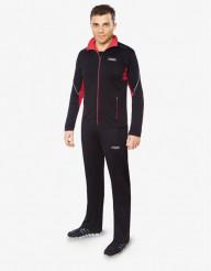 Черно-красный спортивный костюм F50 трендовый модель 237