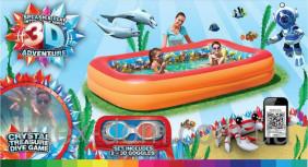 Надувной бассейн Bestway 3D-рисунок 262х175х51 см