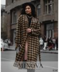 Пальто №0397-Коричневый