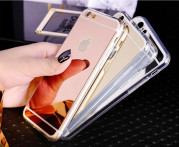 Чехол для iPhone 6/6S силиконовый розовое золото и золотой