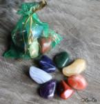 Набор натуральных камней самоцветов Радуга