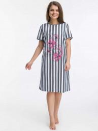 Платье-туника Фаина (3457). Расцветка: полоса с цветком