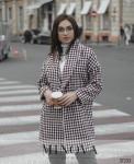 Пальто №0349-Бордо