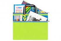 """Папка-сумка с ручками 39*29,5*0,6 см """"Зеленая"""" на молнии"""