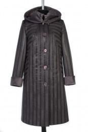 02-0414 Пальто женское утепленное Дубленка Серый