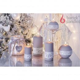 свеча Шар Рождественская мода 100мм