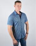 Модная рубашка молодежная Semco цвет голубой модель 20433 16