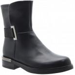 J5601-1 черн Ботинки деми женские (36-40)