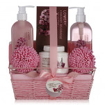 Home Spa Gift Basket - Cherry Blossom Scent