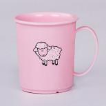4313802/розовый Кружка детская с декором 0,18л (розовый) Роз