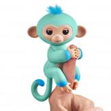Интерактивная  обезьянка  ЭДДИ (голубая), 12 см