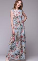 Платья Модель 2366 дымчатый, цветы Juanta Производитель: Jua