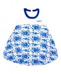 """""""Гжель"""" [253142]Платье для девочки ДПБ062804н"""