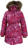 Пальто для девочек GRACE, пух/нат.мех