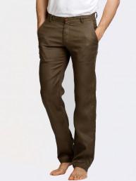 Мужские льняные брюки / ЦВЕТ:  болотный