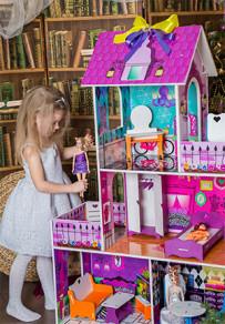 Домики для кукол  – 3-х этажные. 130 см