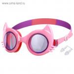 Очки для плавания, детские Кошечка, цвет розовый