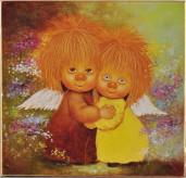 Вышивка стразами * Два Ангелочка