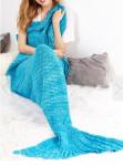 Одеяло-русалка голубое