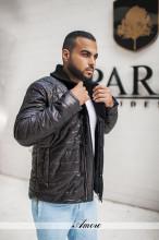 Мужской ассортимент#М56 - куртка с вязанным воротникрм