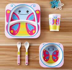 Набор детской посуды 5 предметов Бабочка
