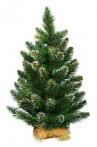 Ель зеленая белые кончики 0,7 м, диаметр 0,53, веточек 56