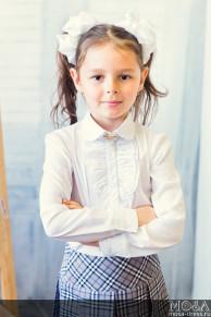 """Блузка школьная """"Жабо"""" для девочки"""