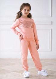 трикотажный костюм Р*апунцель персик
