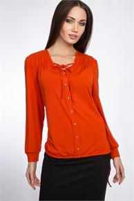 Блуза #0322v (Оранжевый)