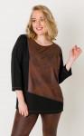Блуза 4157-1 коричневый, черный