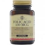 Solgar, Folic Acid, 400 mcg, 250 Tablets