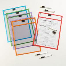 Папка для занятий «Пиши и стирай» + маркер + дидактический м