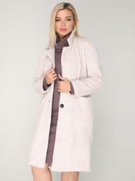 Пальто 241 кремовый/меланж