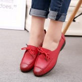 Повседневные женские туфли 1010, гладкая кожа