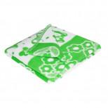 Одеяло детское байковое жаккардовое 140/100 см. цв. зеленый