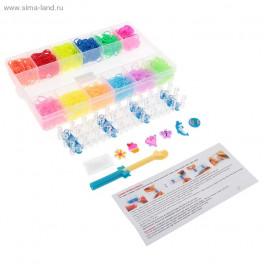 Набор плетение из резиночек 6 однотонных и 6 светящихся в те