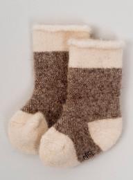 Носки детские из шерсти 100% коричневый, Монголия
