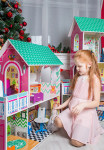 Бирюзовый кукольный домик 90см