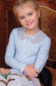 Г*абриэль Трикотажная блузка голубая
