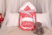 Комплект (гнездышко+одеяло) (зимнее) Снежинки