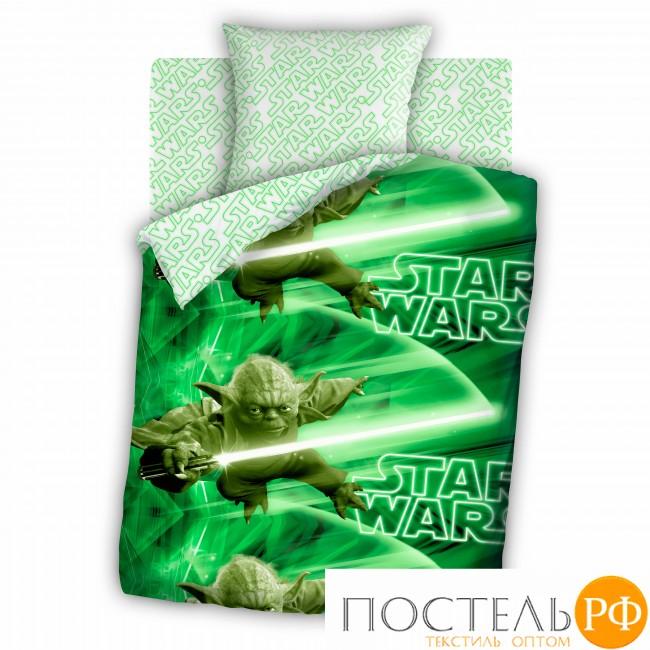 Код: 292025 КПБ 1,5 бязь 'Star Wars' (70*70) рис. 8704+8705