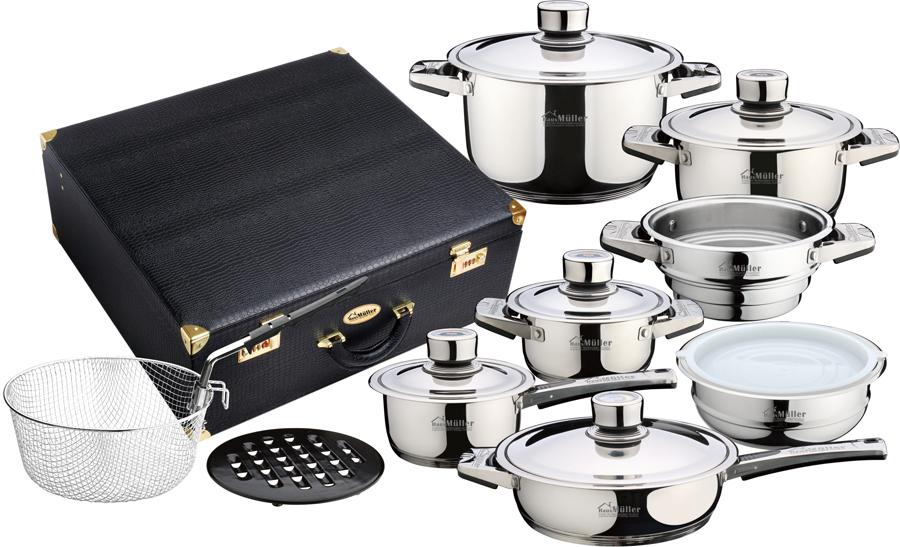 Набор посуды Haus Muller 1017BK, 16 предметов